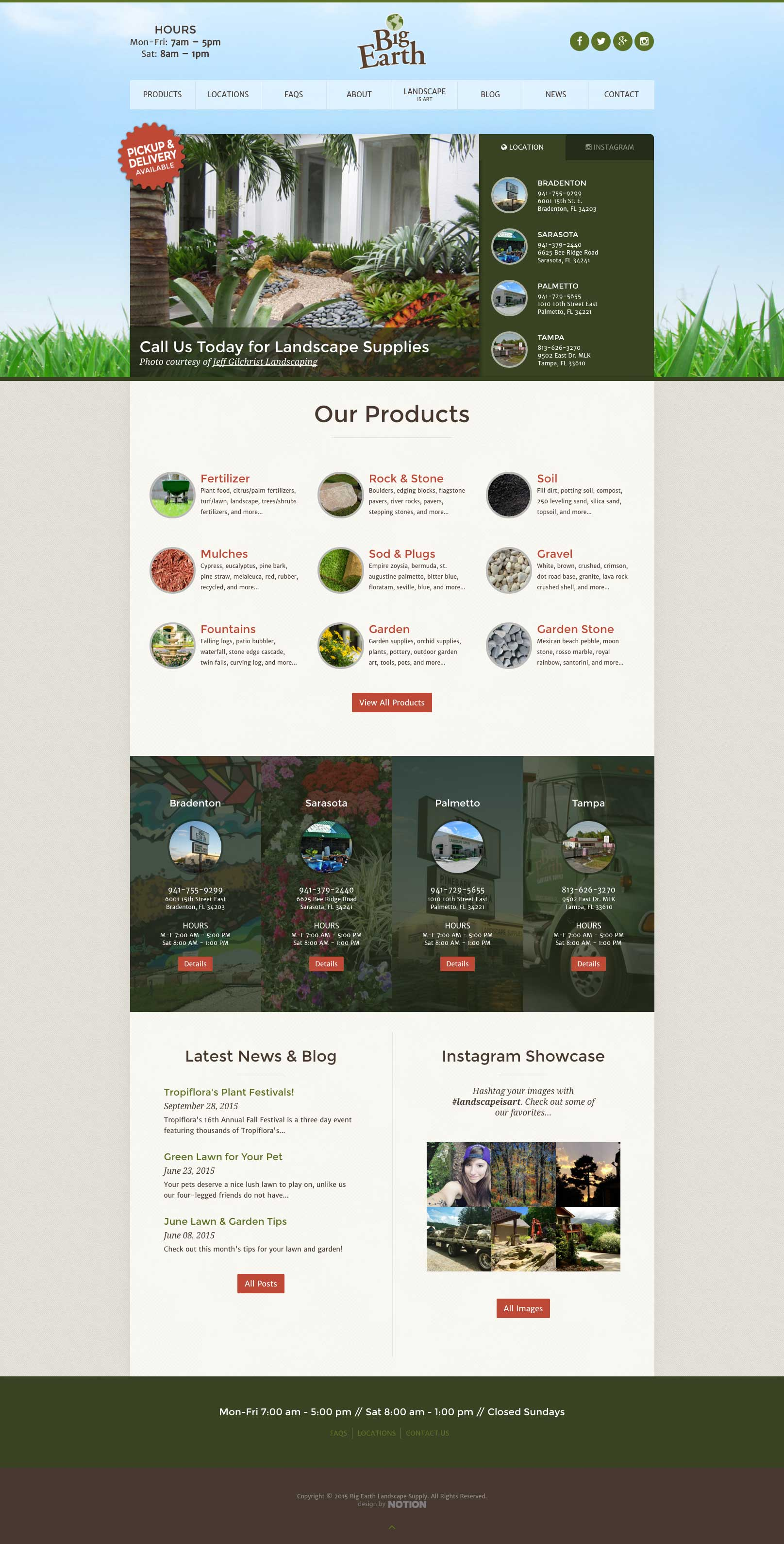 Big Earth Website Design And Maintenance By Notion Design Group