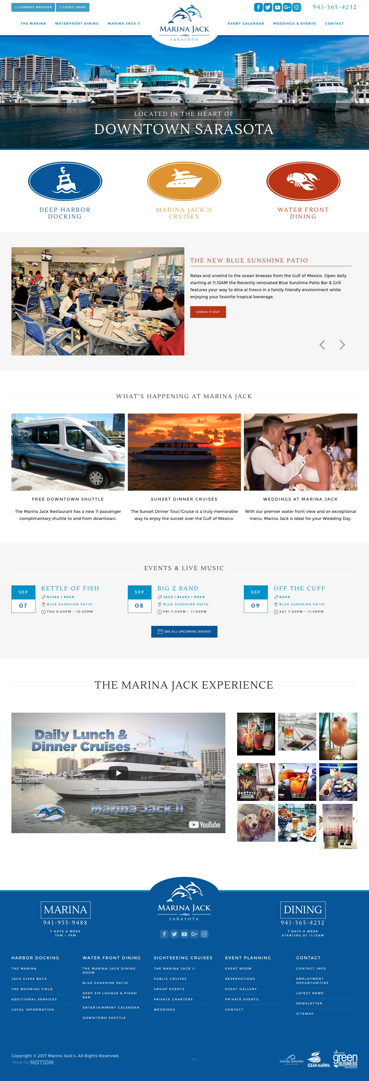 marina website design