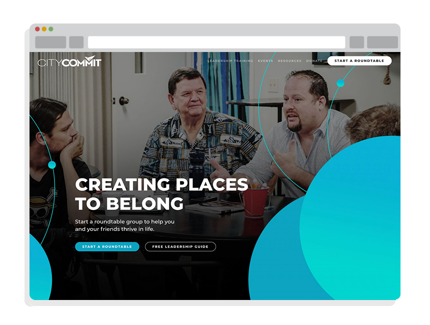 nonprofit website design for CityCommit