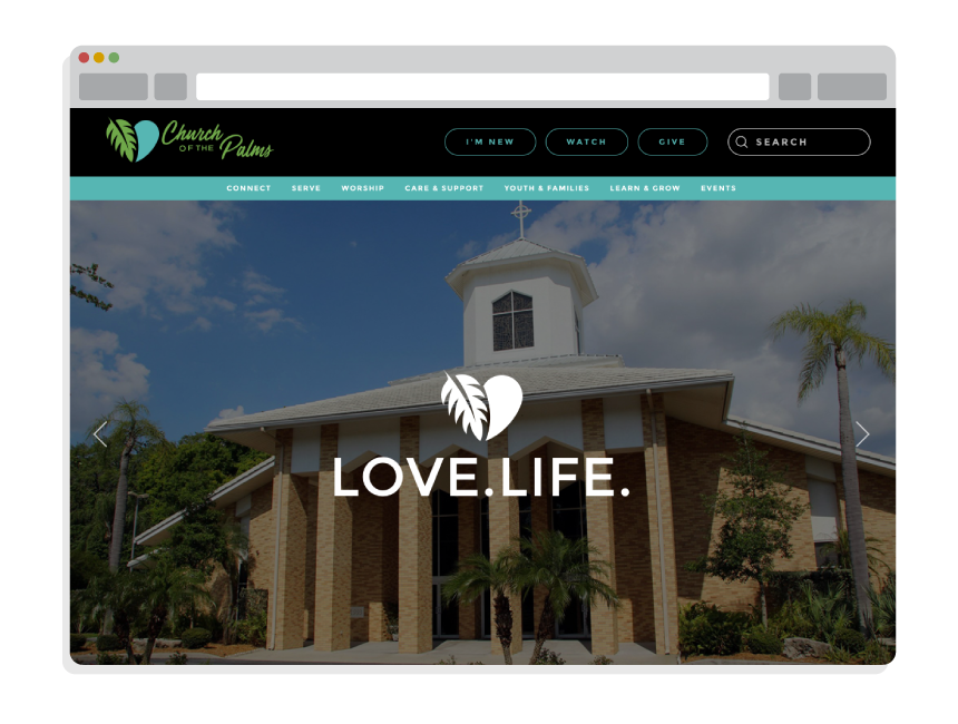 Church Website Design for Church of the Palms