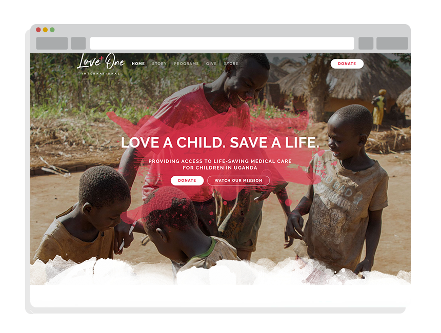 nonprofit website design for Love One International