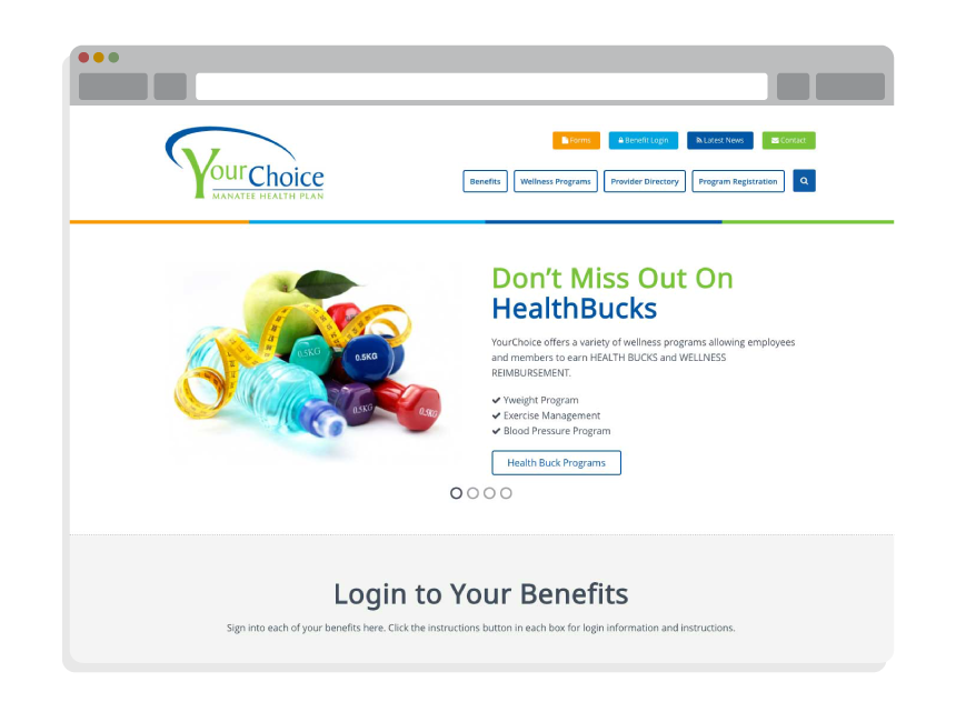 nonprofit website for Manatee YourChoice Health Plan