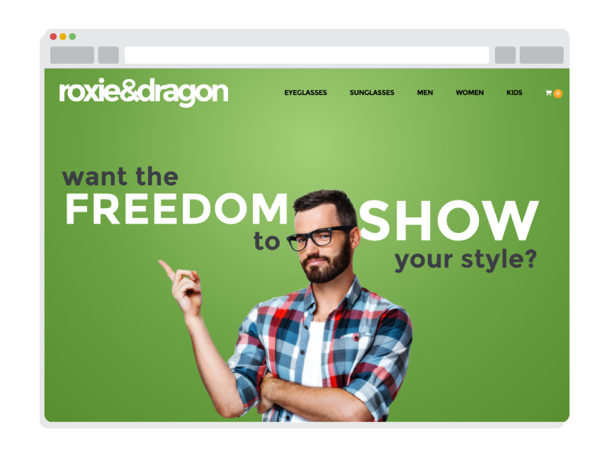 ecommerce web design for Roxie & Dragon
